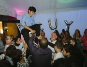 Dancing at a bar mitzvah party