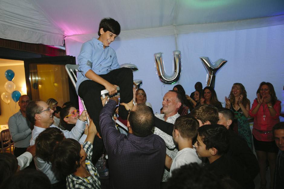 Dancing at a bar mitzvah party