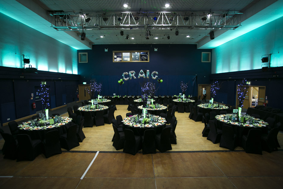 Room set up for a bar mitzvah at the Radlett Centre