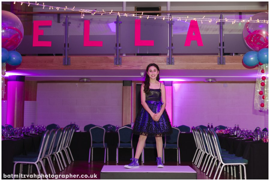 Ella's bat mitzvah at the Mill Hill Synagogue Ner Orr Community Centre North London